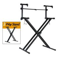 Buy cheap Musical Instruments Pro Series Portable 2 Tier Doubled Keyboard Stand with Locking Straps from wholesalers