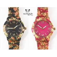 Buy cheap Watches Best price flower printing geneva quartz watches from wholesalers