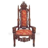 Buy cheap Scroll Mahogany Lion King Armchairs Carved MH-CH023 product