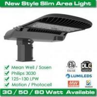 Buy cheap 80W LED parking lot shoebox area light up to 130 lm/W from wholesalers