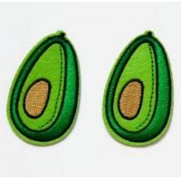 Buy cheap Avocado Pattern Patch Embroidery Sew on Fruit Patches from wholesalers