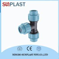 Buy cheap Hdpe Pipe Fittings PP Compression Equal Tee from wholesalers