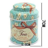 Buy cheap Metal Tinplate Hinge Top Tin Cans Container Box for Tea Candy Sugar Coins Storage from wholesalers