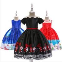 Buy cheap Child Baby Dress Model Baby Winter Christmas Formal Party Wear Lovely Printed Girl Fashion from wholesalers
