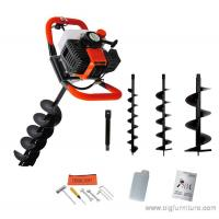 Buy cheap 52cc Petrol Earth Auger 3HP Post Hole Borer Ground Drill with 3 Bits + Extension from wholesalers