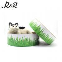 Buy cheap Round Donut cat bed grass custom cardboard cat scratch cat bed shark with cheap price RCS-8004 from wholesalers