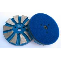 Buy cheap STONEKOR Velcro 3-Hole (3.25/83mm) 10 Seg Metal Grinding Puck from wholesalers