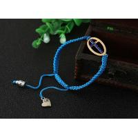 Buy cheap Blue color knotted rope bracelet from wholesalers