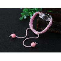 Buy cheap Plastic beads handmade knotted rosary bracelet from wholesalers