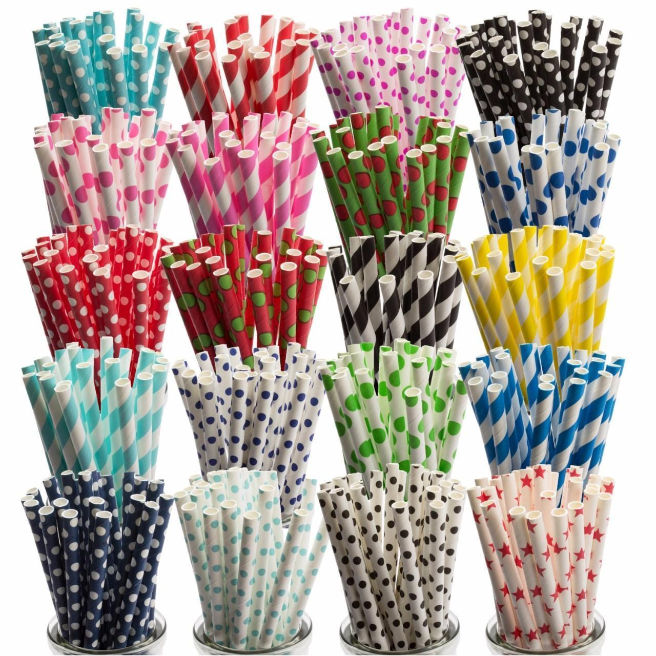 Buy cheap colorful party favors compostable Jumbo paper drinking straw with FDA certified from wholesalers