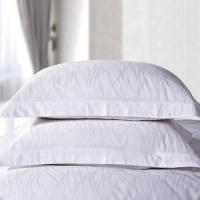 Buy cheap 100% cotton hotel pillow cover plain white jacquard pillow case TAP-027 from wholesalers