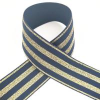Buy cheap 4cm navy color soft feeling luminous fold over elastic webbing for wholesale from wholesalers