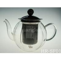 Buy cheap New styles wholesale Heat Resistant Glass Teapot with steel infuser from wholesalers