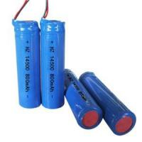 Buy cheap Lithium Cylindrical Battery 14500 800mAh 3.7V Rechargeable Battery for emergency lighting from wholesalers