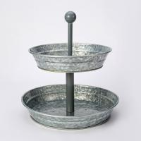 Buy cheap Rustic Country Kitchen Vintage Galvanized 2 Tier Serving Tray from wholesalers