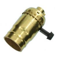 Buy cheap Brass lamp holder with switch Turn Knob For 3-Way Lamps from wholesalers