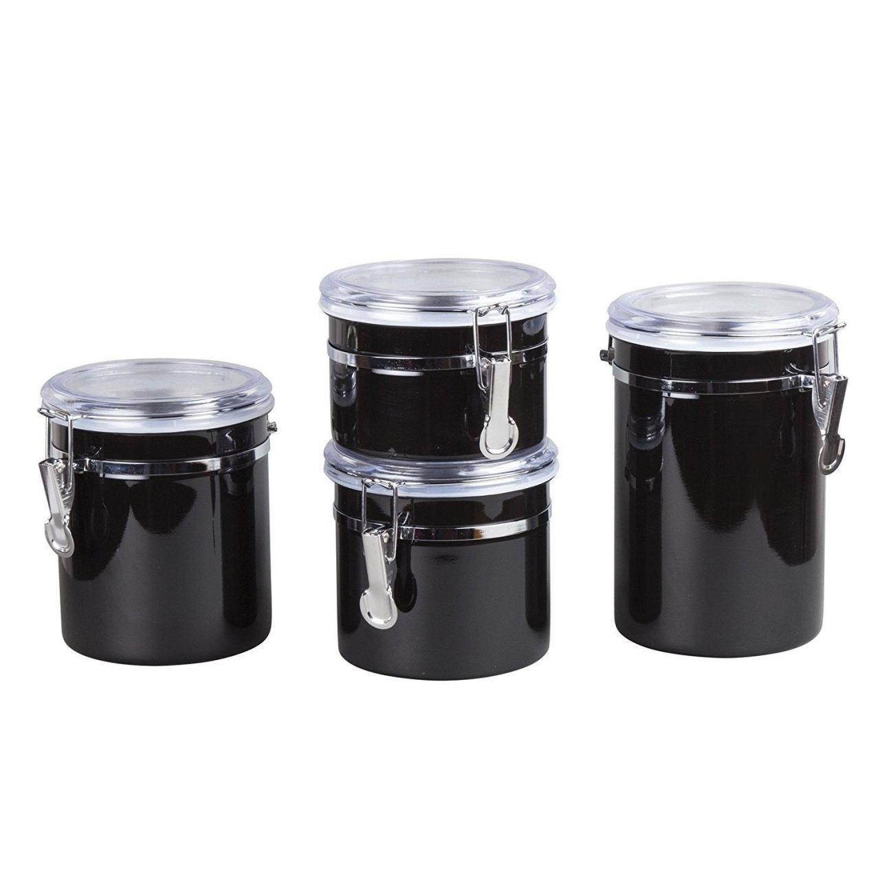 Buy cheap Dailyart Round Stainless Steel Canister Set with Locking Clamp CCJ0010 from wholesalers