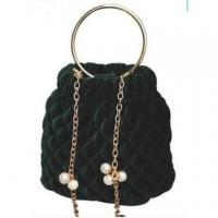 Buy cheap Metal Chain Bucket Velet Lady′s Handbag Wzx23133 from wholesalers