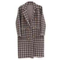 Buy cheap Women's Thick Plaid Knitted Long Cardigan Sweater Winter-OC001 from wholesalers