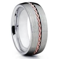 Buy cheap 8mm dome band steel cable inlay rings walmart wedding bands men from wholesalers