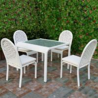 Buy cheap Outdoor Dining White Resin Wicker Patio Furniture from wholesalers