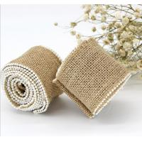 Buy cheap Jute Burlap Hessian Ribbon Pearl rustic vintage wedding decoration diy jute from wholesalers