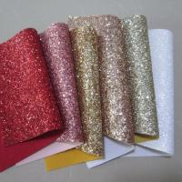 Buy cheap Rose gold red pink white chunky glitter leather fabric for sawing crafts from wholesalers