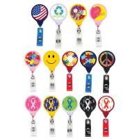 Buy cheap Badge Reels JUMBO Breast Cancer Ribbon Reel from wholesalers