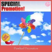Buy cheap Rainbow blades and wooden stick plastic windmill from wholesalers