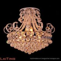 Buy cheap Antique gold crystal chandelier luxury art deco pendant lamp 71041 from wholesalers