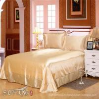 China Hotel design bedding sets / luxury south africa satin tencel silk touch beige bedding on sale