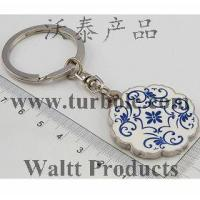Buy cheap KEYCHAIN KEYRING Blue and White Porcelain Keychains, Souvenir Keychains JX0129 from wholesalers