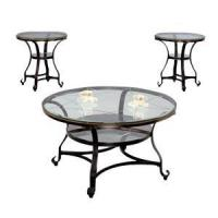 Buy cheap Table Chair Set Round Glass Coffee Set from wholesalers
