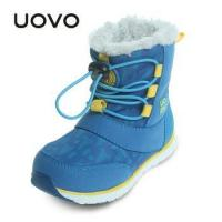 Buy cheap Uovo Winter snow boots for boy Children Outdoor Waterproof oys Winter Rubber Shoes from wholesalers