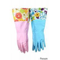 Buy cheap 31212 Household Gloves Latex free cleaning Gloves with soft fiber lining extra long cuff 15 from wholesalers