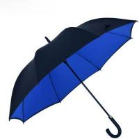 Buy cheap Straight umbrellas double layers crook handle automatic open straight umbrella product