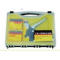 Buy cheap PLIERS & PIPE WRENCH 3-in-1 staple gun set from wholesalers