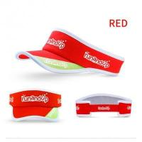 Buy cheap RU81106 Polyester Sun Visor Cap with White 3D Embroidery Logo from wholesalers