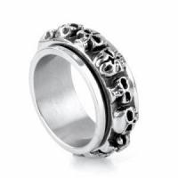 Buy cheap Wholesale New design steel skull ring product