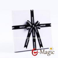 Buy cheap PB-007 Wholesale custom pre-tied ribbon bow gift packaging box satin ribbon bow with logo from wholesalers