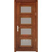 Buy cheap Solid wood 4 panel interior doors with frosted glass inserts from wholesalers