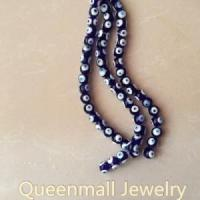 Buy cheap dark blue coloured glaze evil eye beads jewelry from wholesalers