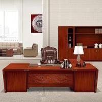 Buy cheap Executive desk ZCJB-B3203H walnut solid wood office furniture manager desk from wholesalers