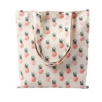 Buy cheap Tropical Pineapple Patern Canvas Tote Shopping Bag from wholesalers