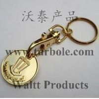 Buy cheap Gold Trolley Coin Keychains, Gold Trolley Coin Keyring from wholesalers