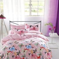 Buy cheap Modern Home Bedroom 4 Piece Bedding Sets 100% Cotton Tancel Material Butterfly Design from wholesalers