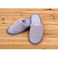 Buy cheap 100 Percent Cotton Velour Velvet Disposable Hotel Slippers , Disposable Bathroom Slippers from wholesalers