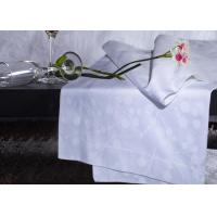Buy cheap White Twin Size Hotel Bedding Sets For Hotel 100% Combed Cotton Stripe from wholesalers