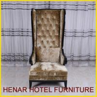 Buy cheap bespoke wood frame high back wingback chair from wholesalers