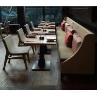 Buy cheap Henar hotel restaurant bench seat /dining furniture set table and fabric sofa chair set from wholesalers